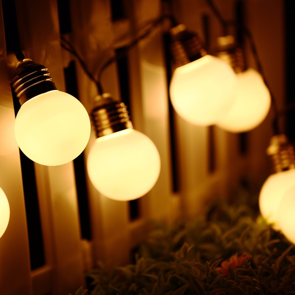 Solar christmas decorations - Christmas Decorations Lights G50 Solar Power String Light 10 Led Outdoor Lighting Solar Lamp For Home