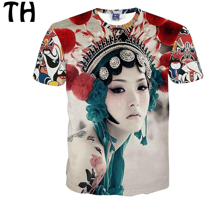 2018 Kinesiska National Style Vintage Tops Utskrift Casual Tshirts - Damkläder - Foto 1