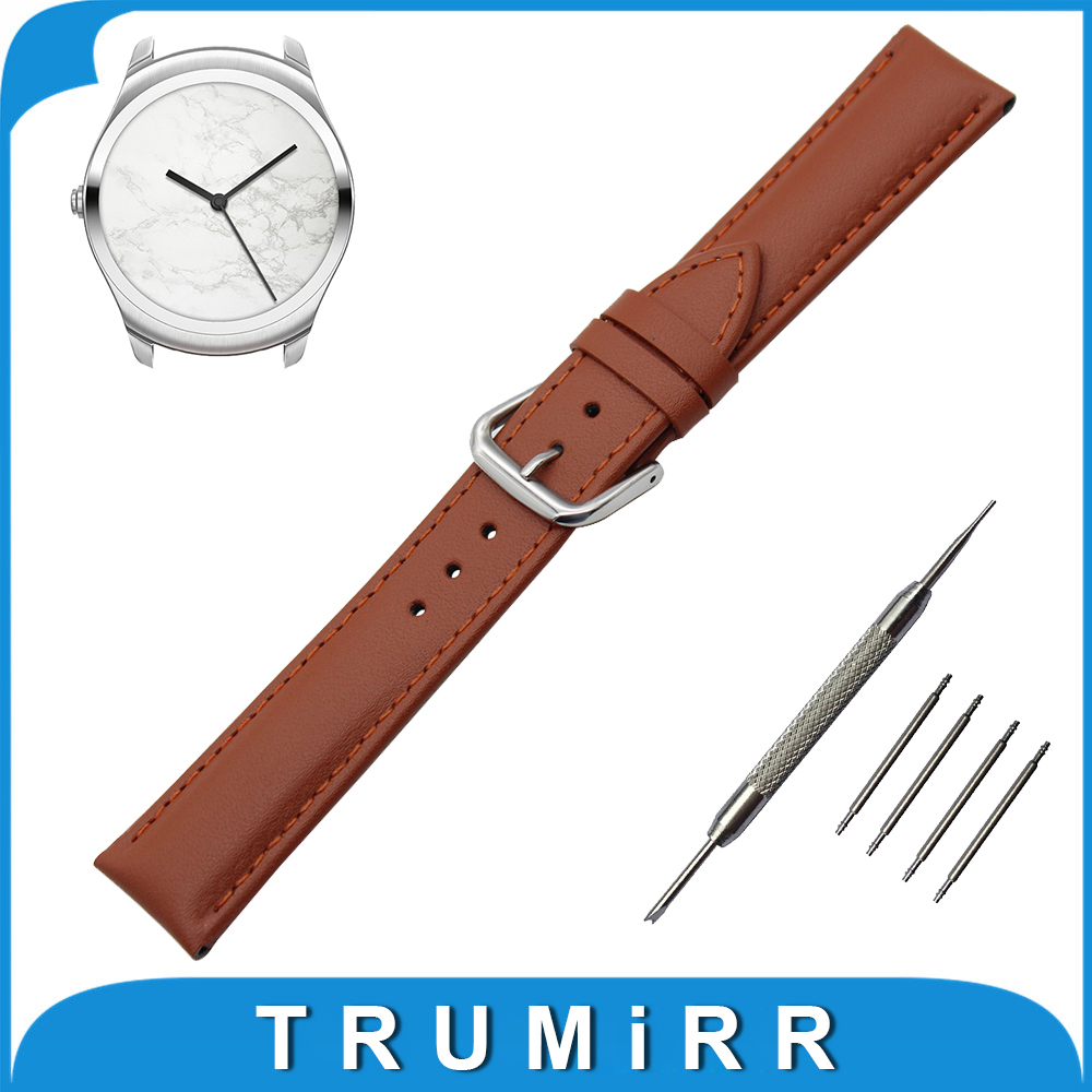 Genuine Leather Watch Band 20mm for Ticwatch 2 42mm Stainless Buckle Strap Wrist Belt Bracelet Black Brown + Spring Bar + Tool genuine leather watch band 20mm for motorola moto 360 2 42mm men 2015 stainless buckle strap wrist belt bracelet black brown