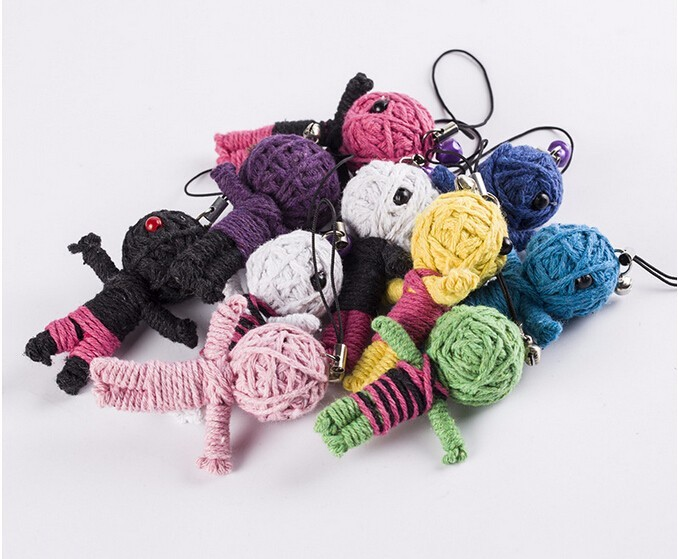 5pcs Wholesale New Style Voodoo Doll Keychains little voodoo dolls Free Shipping Accessories