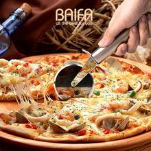 Roller Pizza Knife Cutter Pastry Pasta Stainless Steel Dough Crimper Wheel Rolling Slicer Cutting kitchen Baking Tools