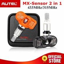 Autel датчик MX 433 315 МГц датчик давления в шинах, шина ремонт инструменты сканер MaxiTPMS Pad шин давление мониторы тестер Программирование MX-сенсор