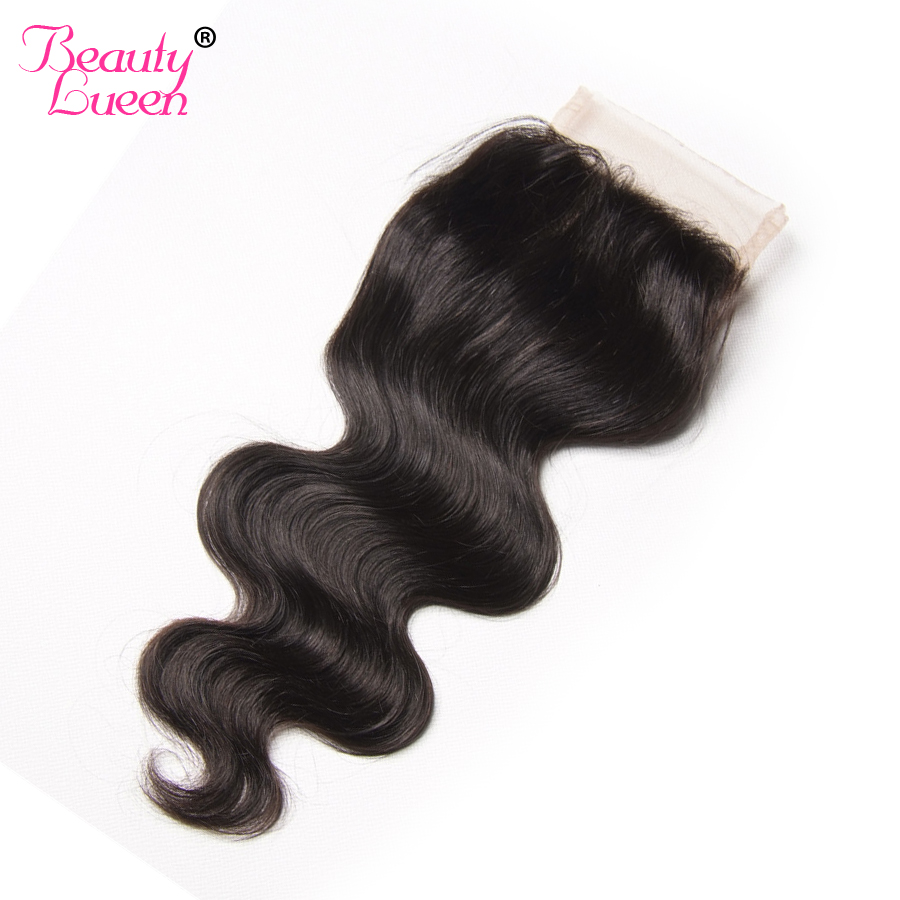 Brazilian Body Wave Lace Closure Free Part 4X4 Remy font b Hair b font Closure Natural