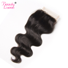 Brazilian Body Wave Lace Closure Free Part 4X4 Remy Hair Closure Natural Color 100% Human Hair Free Shipping BEAUTY LUEEN Hair