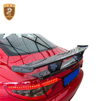 Carbon Fiber Spoiler Rear Trunk Wing MS Style Fits For Maserati GTS High level Rear Wings Car Accessories Car Styling