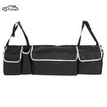 Черный большой складной багажник автомобиля, организатор грузового транспорта Портативный складная сумка для хранения Дело Экономия пространства Путешествия хранения Организатор