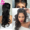 100% Virgin Hair Silk Top Full Lace Wig For Black Women Glueless Wavy Silk Base Lace Frontal Wigs With Baby Hair Wavy Lace Wigs