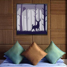 YongHe Nordic style Home Decorative Oil Painting Purple Elk Customizable Sizes Spray wall deco Frameless ink Poster