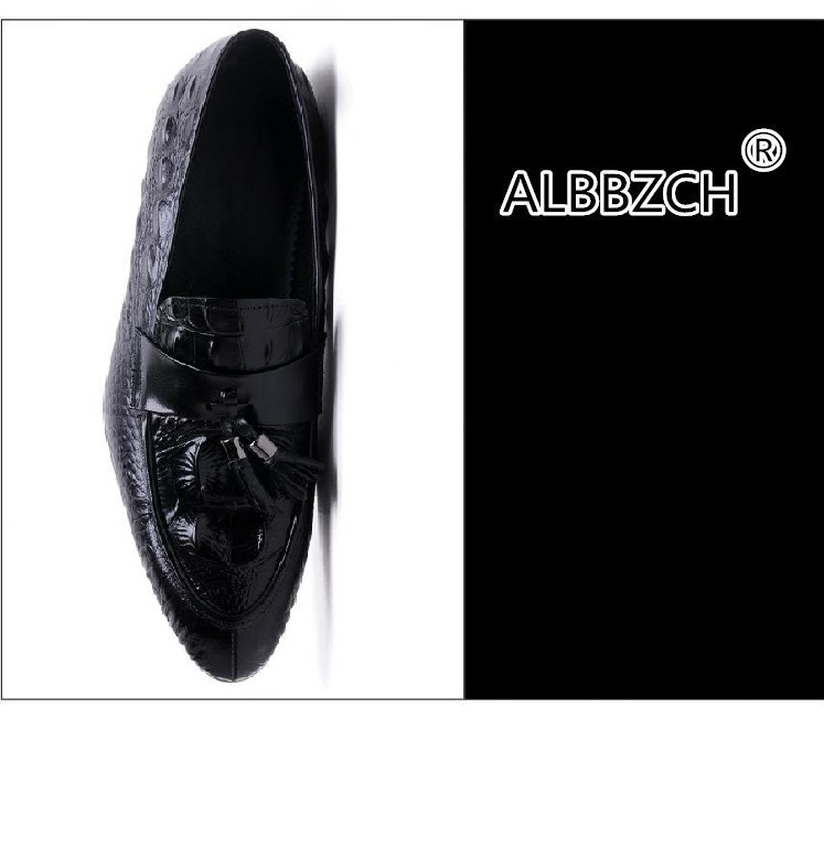 Обувь с очень высоким подъемом 12 см; Мужская обувь из спилка, визуально увеличивающая рост; повседневная обувь в деловом стиле; мужские свад... - 4