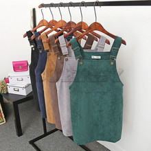 CUERLY Summer Women Dress 2019 Casual Sleeveless Retro Corduroy Party Dresses Female Solid Mini Beach