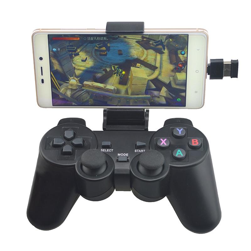 Gamepad sem fio Para Android Phone/PC/PS3/Caixa de TV 2.4G Joypad Game Controller Joystick Para Xiaomi telefone inteligente Acessórios Do Jogo