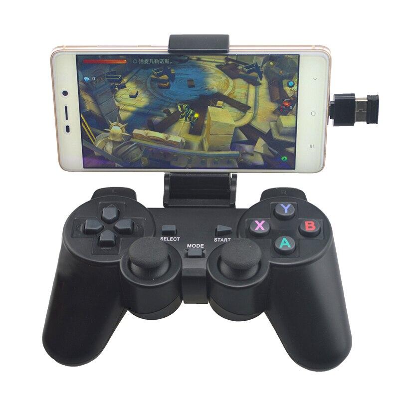 Gamepad sem fio para o telefone android/pc/ps3/caixa de tv joystick 2.4g controlador de jogo joypad para xiaomi acessórios de jogo de telefone inteligente