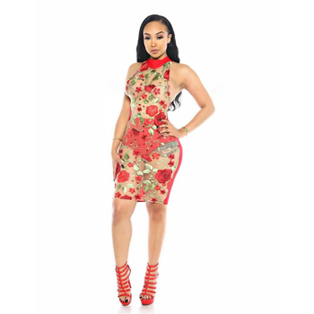Spring Summer Women Sexy Mesh Rose Embroidery Transparent Mini Dress Party Night Club See-through Sheath Bodycon Dress 451