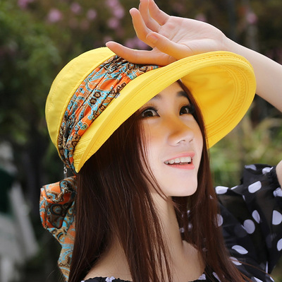 c09c32c5fc6 Aliexpress.com   Buy 2018 Summer Style Women Foldable Wide Large Brim  Floppy Beach Gorro Hats Chapeu Outdoors Visors Cap Sun Collapsible Anti Uv  Hat from ...
