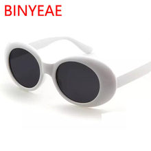 0b4e28a113c Kurt Cobain glasses white oval sunglasses ladies trendy 2018 hot Vintage  retro sunglasses Women small light red eyewear UV400