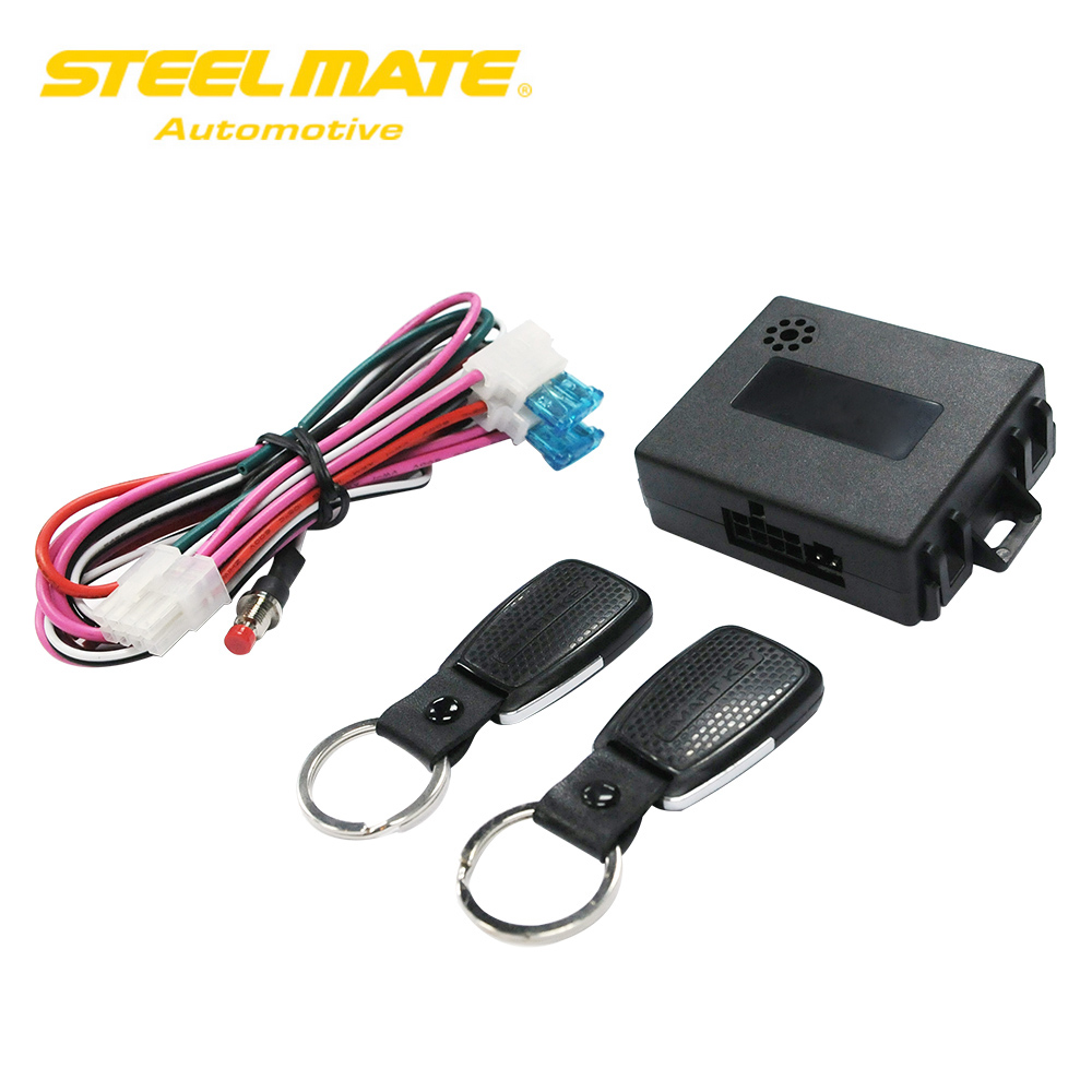 Steelmate Car Alarm system with Auto start SK21 Remote Smart Engine Lock Touchless key Keychain Starline with Button Start Stop easyguard pke car alarm system remote engine start stop shock sensor push button start stop window rise up automatically
