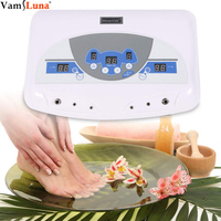 Professional Dual Ionic Detox Ion Foot Spa Bath Ion Cell Cleanse Machine Dual Detoxification System + Infrared