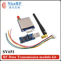 2pcs/lot 500mW 433MHz RS232 Wireless Data Transmitter And Receiver SV651