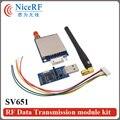 2 шт./лот 500 МВт 433 МГц RS232 Беспроводной Передачи Данных Передатчик И Приемник SV651