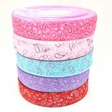 suoja 5yard/lot 1(25mm) Multi colors option Printed Organza Ribbon DIY Sewing & Hair Bow Accessories suoja