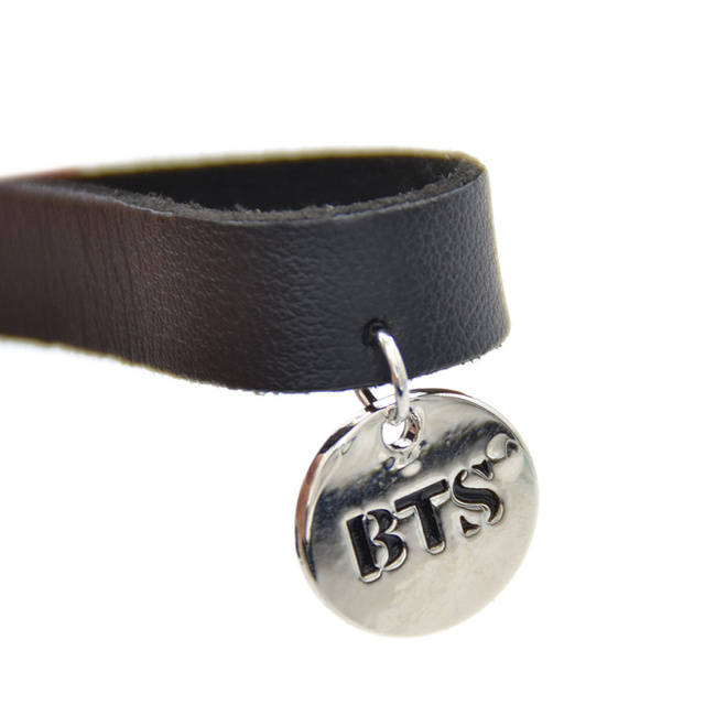 Bts Leather Necklace Choker