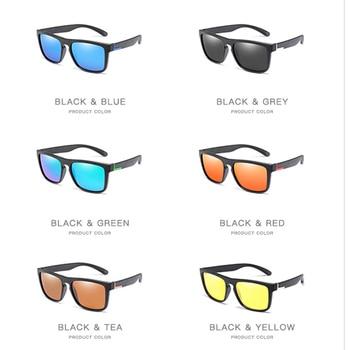 Men Polarized TR90 Sunglasses Vintage Anti-UV Driving Driver Black Goggles Eyewear Rectangle Shades Men Oculos masculino Male 10