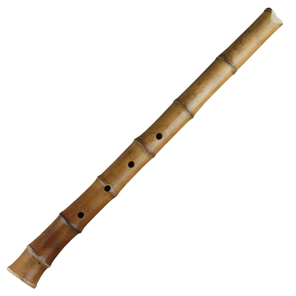 5 Holes Bamboo Shakuhachi Flute with Root D Key Wooden Musical Instrument Korean Style Flute with Black Line Woodwind Instrumen