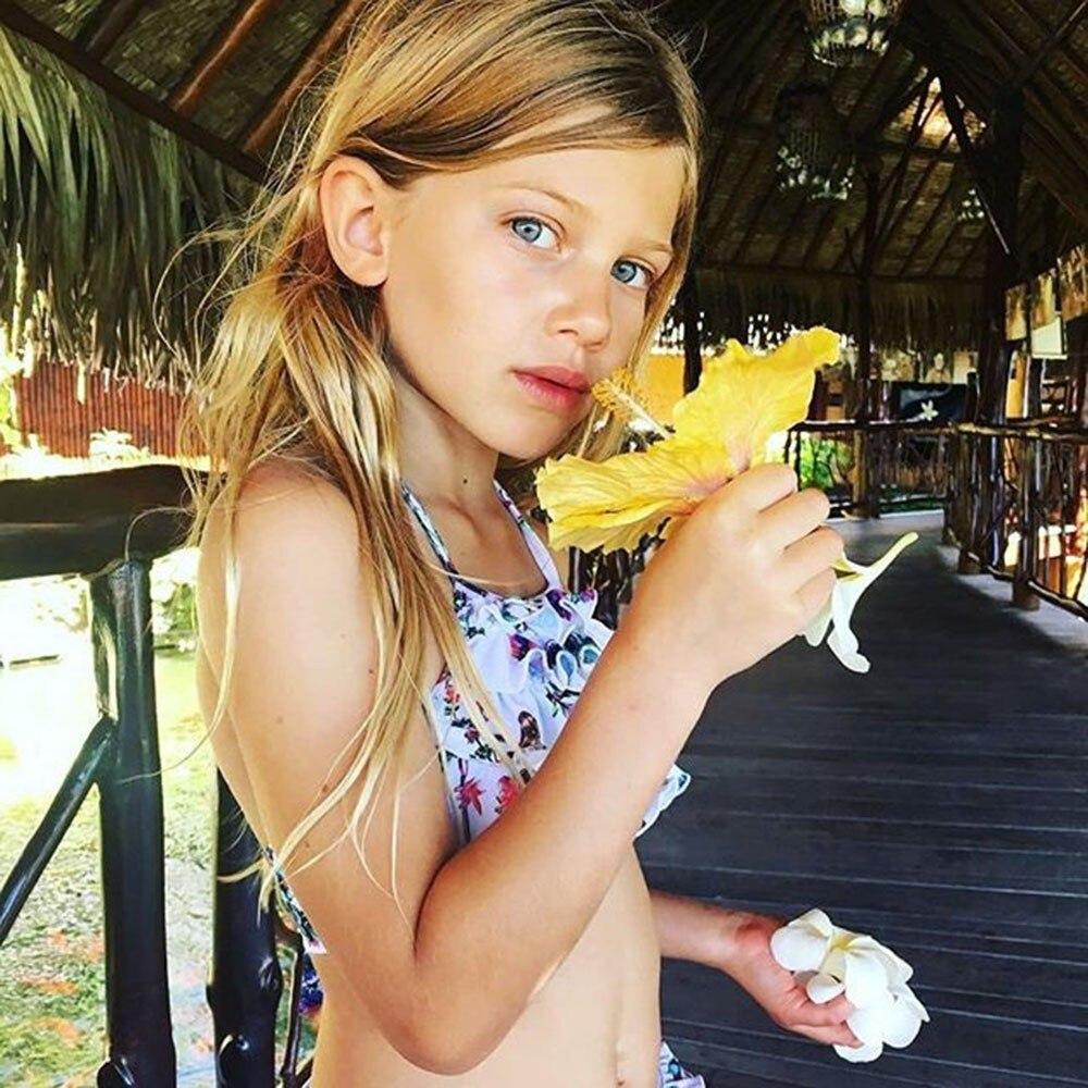 a8edfe015603 Αγορά Κολύμπι | Two Piece Swimwear Girls Baby Toddler Ruffles Layered  Bandgae Bikini Outfits Set Swimsuit Girls Children Bathing Suit Beach JU28