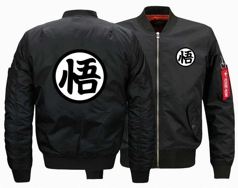 2019 Spring Autumn Mans Flight Jacket Anime Dragon Ball Son Goku Sun Wukong Print Man Bomber Baseball Uniform Usa Size