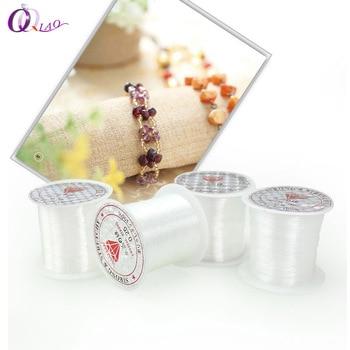 Цепи для рукоделия, бисер, блестящие шарики, прозрачные, без эластичной резьбы, 1 рулон, 0,25 мм, 0,3 мм-0,7 мм, поделки из бисера, аксессуары
