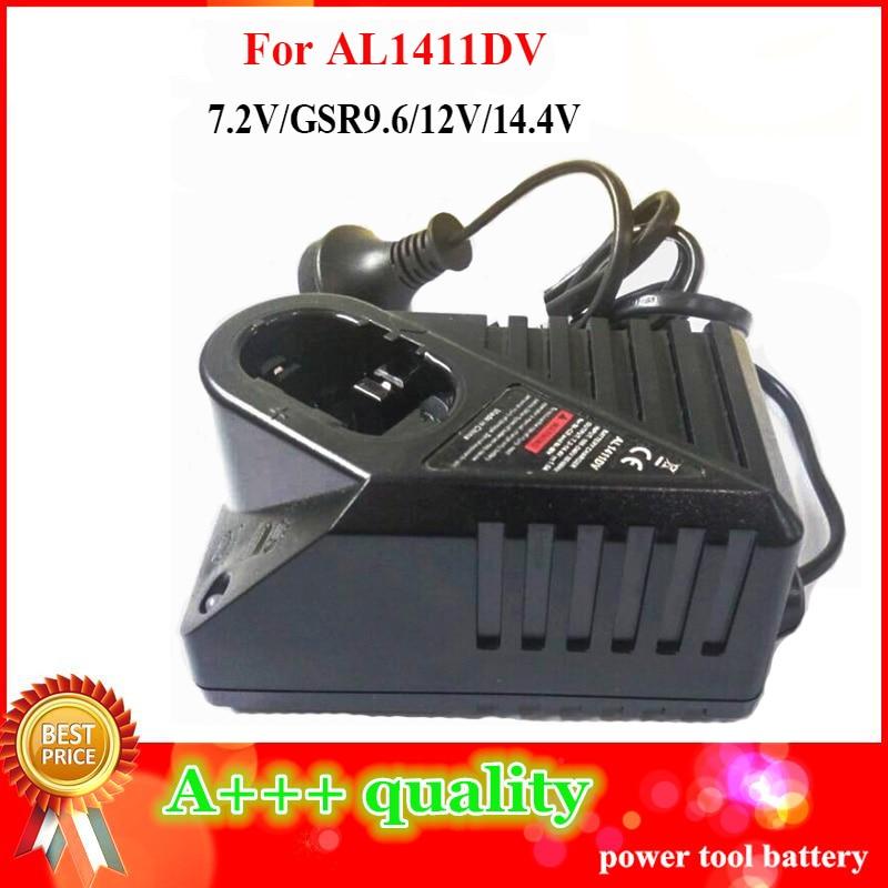 Replacement AL1411DV Ni-CD/MH Battery Charger For Bosch 7.2V 9.6V 12V 14.4V Battery PSR 14.4V GSR12 GSR14.4 Electrical Drill replacement power tool battery charger for bosch 7 2v gsr9 6 12v 14 4v ni mh ni cd al1411dv gsr7 2 2 gsr9 6 2 gsr12 2 gsb12 2