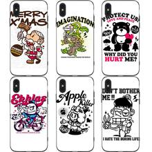 Cool Funny Cartoon Phone Cases Cover for iphone X XR XS MAX 6 6s 7 8 Plus TPU Coque For 8Plus 5SE