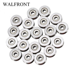 20pcs Bearings rolamento V Groove Ball Bearing V623ZZ Pulley For Rail Track Linear Motion System 3x12x4mm High Quality