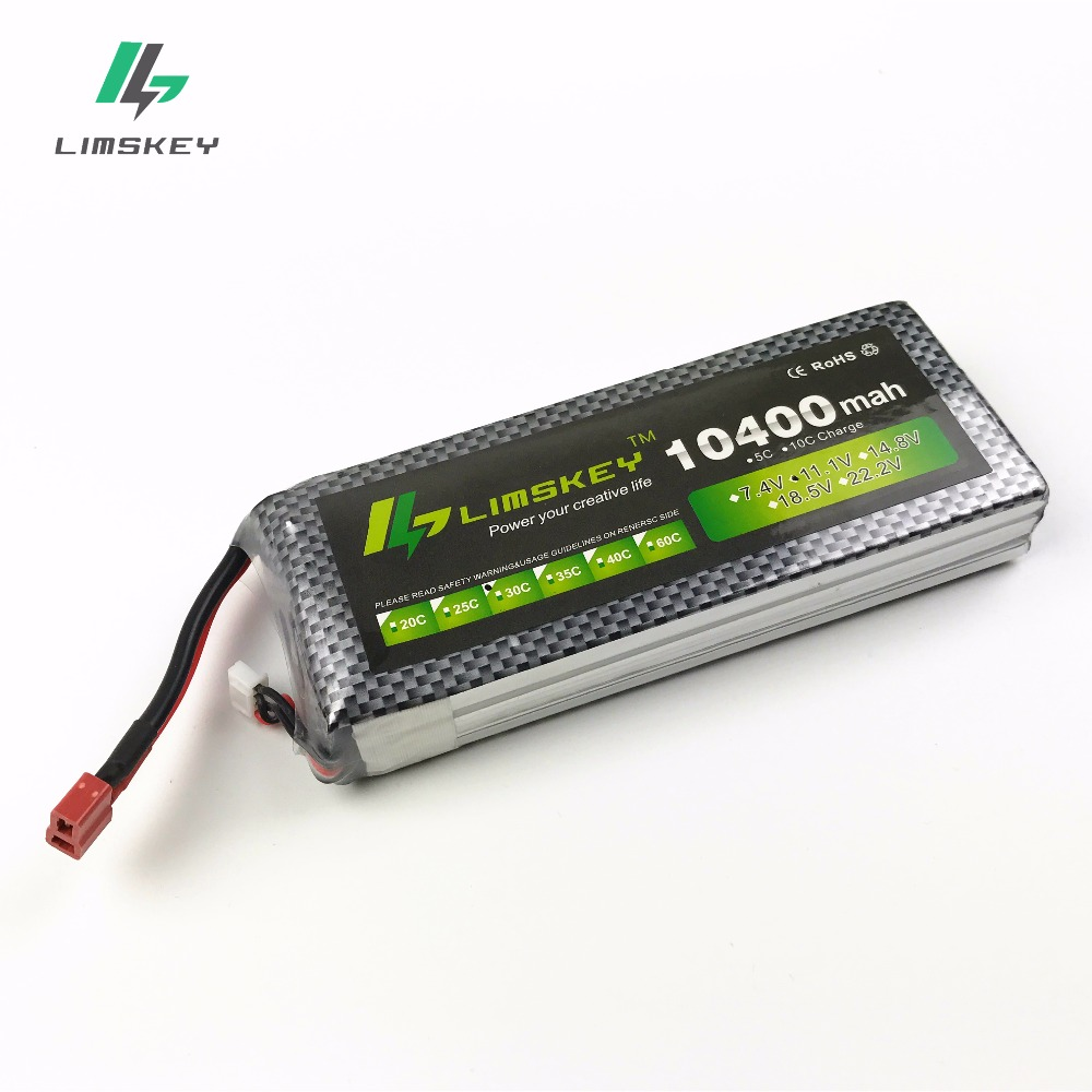 Limskey power 3S 11.1v 10400mah Lipo Battery 30c For Helicopter Four Axis RC Car Boat power T XT60 JST Plug 3s lipo battery 11.1 mos rc airplane lipo battery 3s 11 1v 5200mah 40c for quadrotor rc boat rc car