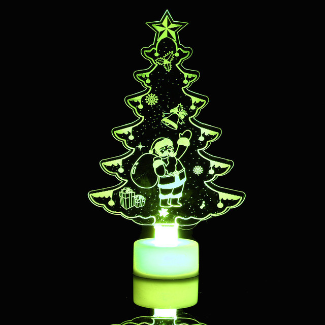 christmas xmas tree night light creative colorful butterfly can paste led decorative wall lamp home desktop