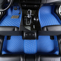 Car floor mats Custom for Ford ranger explorer 5 2009 focus 2 3 mk2 mk3 fiesta mk7 2006 2010 Mondeo f150 Auto accessories blue