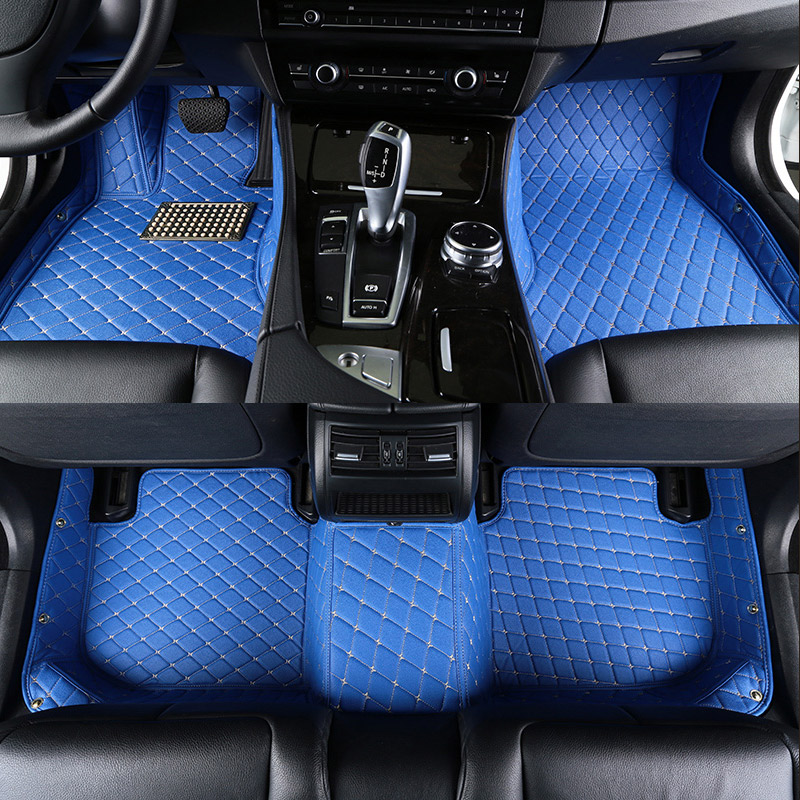 Car floor mats Custom for Ford ranger explorer 5 2009 focus 2 3 mk2 mk3 fiesta mk7 2006 2010 Mondeo f150 Auto accessories blue