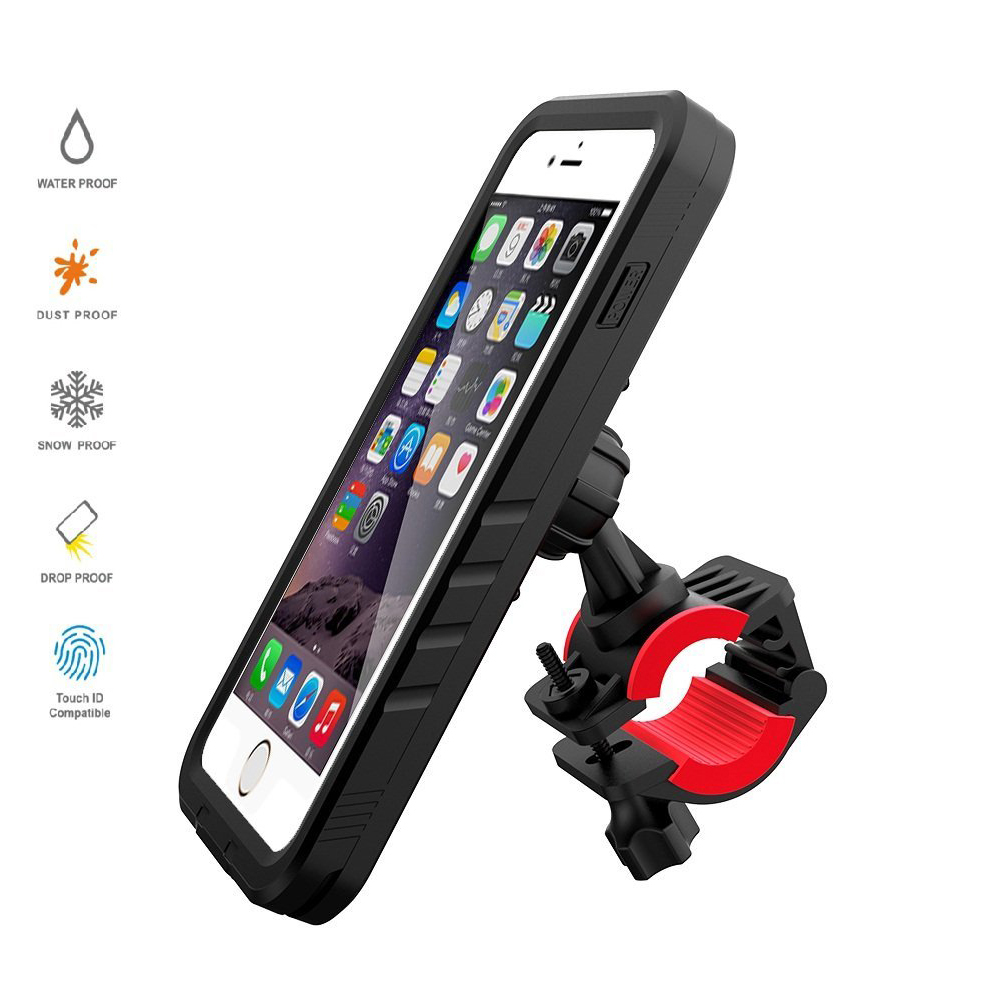 designer fashion 50e02 091ff Bicycle Mount for iPhone 7 Plus/8 Plus Waterproof Case,Bike Motorcycle Rack  Handlebar & Motorcycle Holder Cradle with 360 Rotate