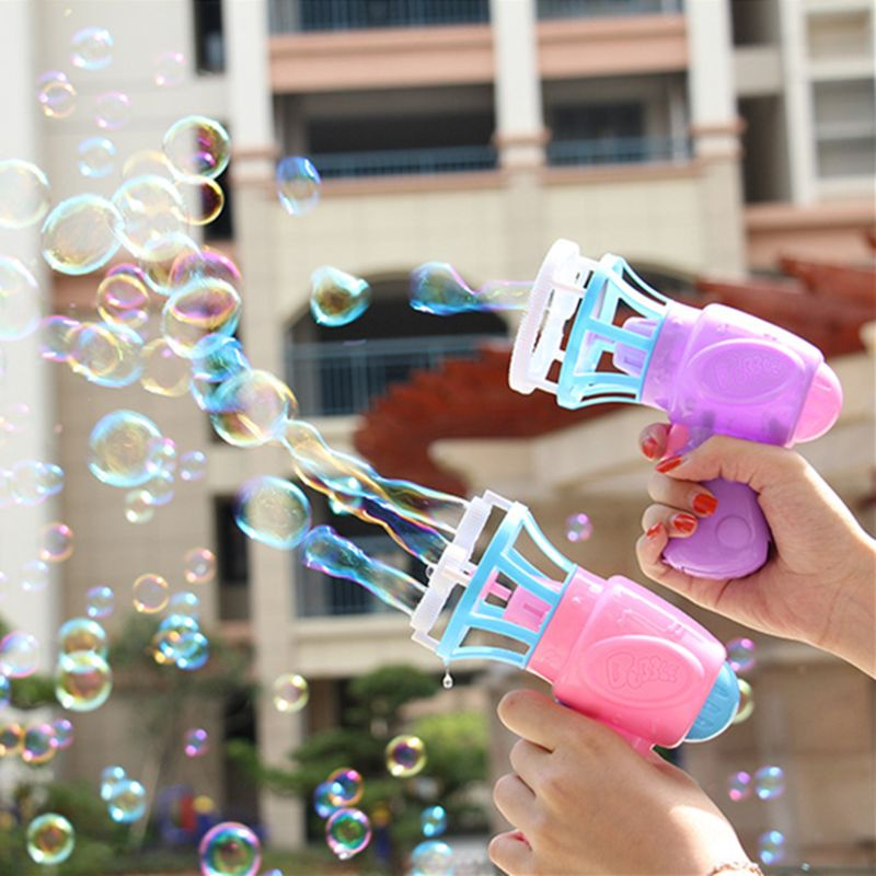 3IN1 Bubble Blower Fan Machine Toy Kids Soap Water Bubble Gun Summer Outdoor Kids Toy Gift