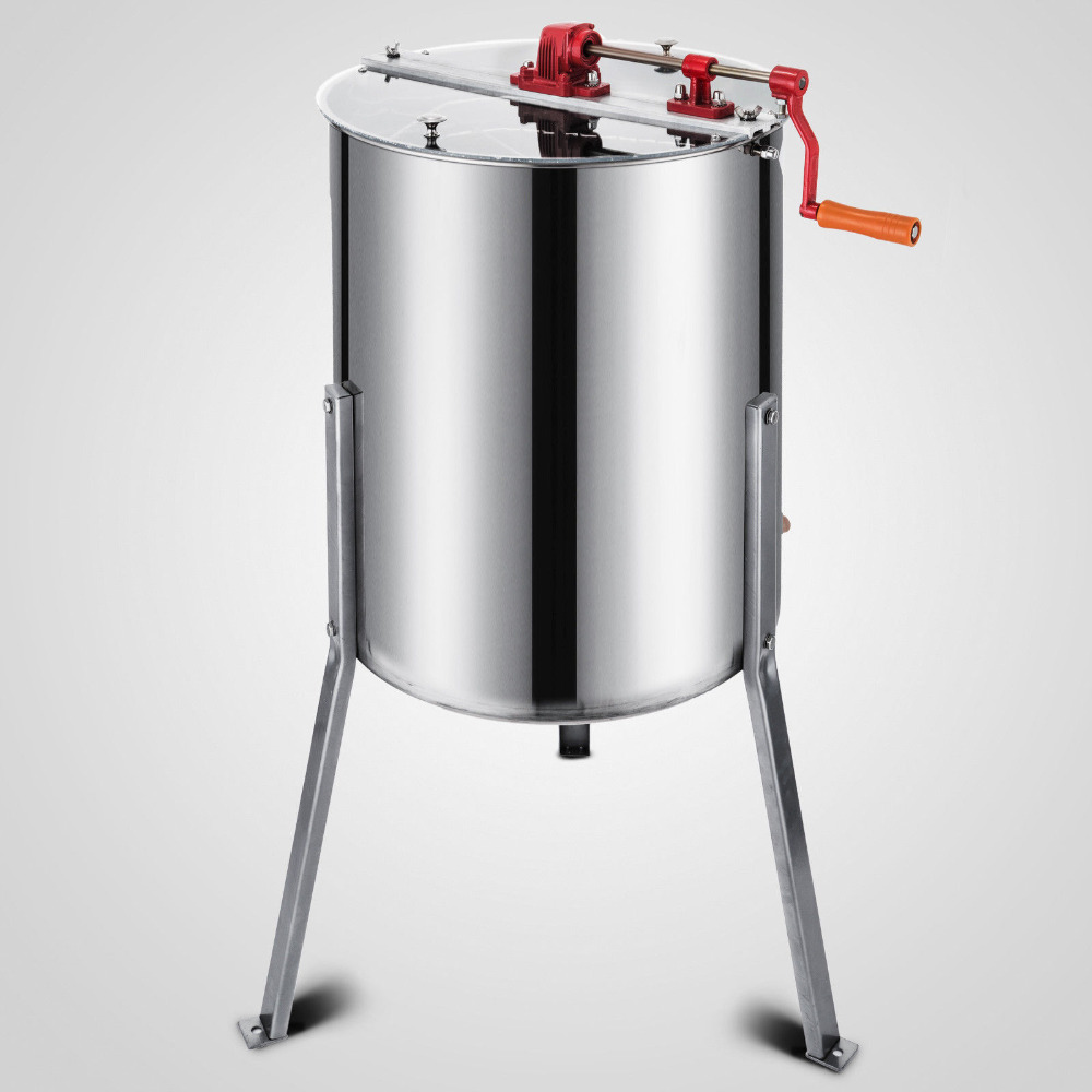 Beekeeping Equipment 3 Frame Stainless Steel Manual Bee Honey Extractor
