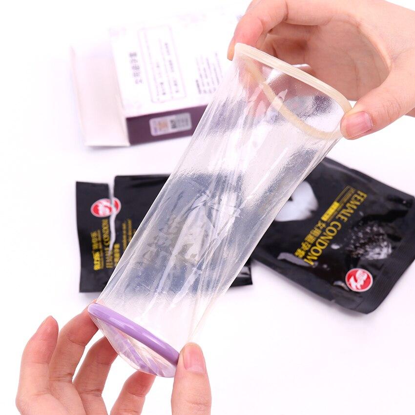 2PCS/Box  New Female Condom Women Orgasm Latex Stimulate Adult Sex Products Couple Sexual Love Condoms