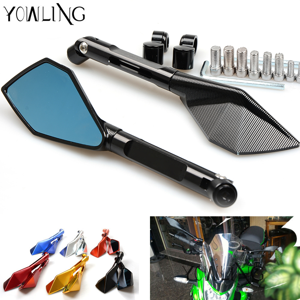 Universal Motorcycle mirrors Side mirror rearview For Suzuki GSXR 1000 600 750 GSR 750 600 DL650/V-STROM TL1000S SFV650 GLADIUS motorcycle clutch wire adjustment cable cnc aluminum m8 m10 for suzuki gsr 600 750 sv 650 1000 sv1000 dl650 v strom 650 1000