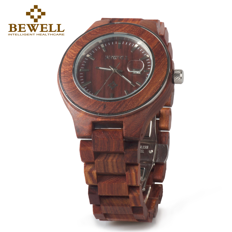 BEWELL 2017 Hot Sale Fashion Wood Watch Men mens watches top brand luxury reloj hombre big horloges mannen with gift box 100AG vh mens watches men business watch clock horloges mannen top brand luxury military quartz wrist watch reloj hombre
