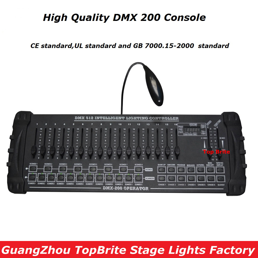 2016 High Quality New DMX 200 Controller Stage Lighting DJ Equipments DMX Console For Led Par Moving Head Lights Dj controller 2pcs high quality 512 dmx console stage light equipment 192 dmx controller for stage lighting led par beam lights