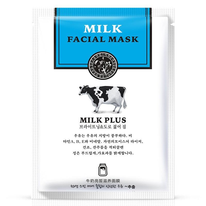 Han Chan Facial Mask Skin care Natto Goat Milk Moisturizing Facial Mask Silk Mask Anti Wrinkle Whitening Nourishing Facial Mask in Treatments Masks from Beauty Health