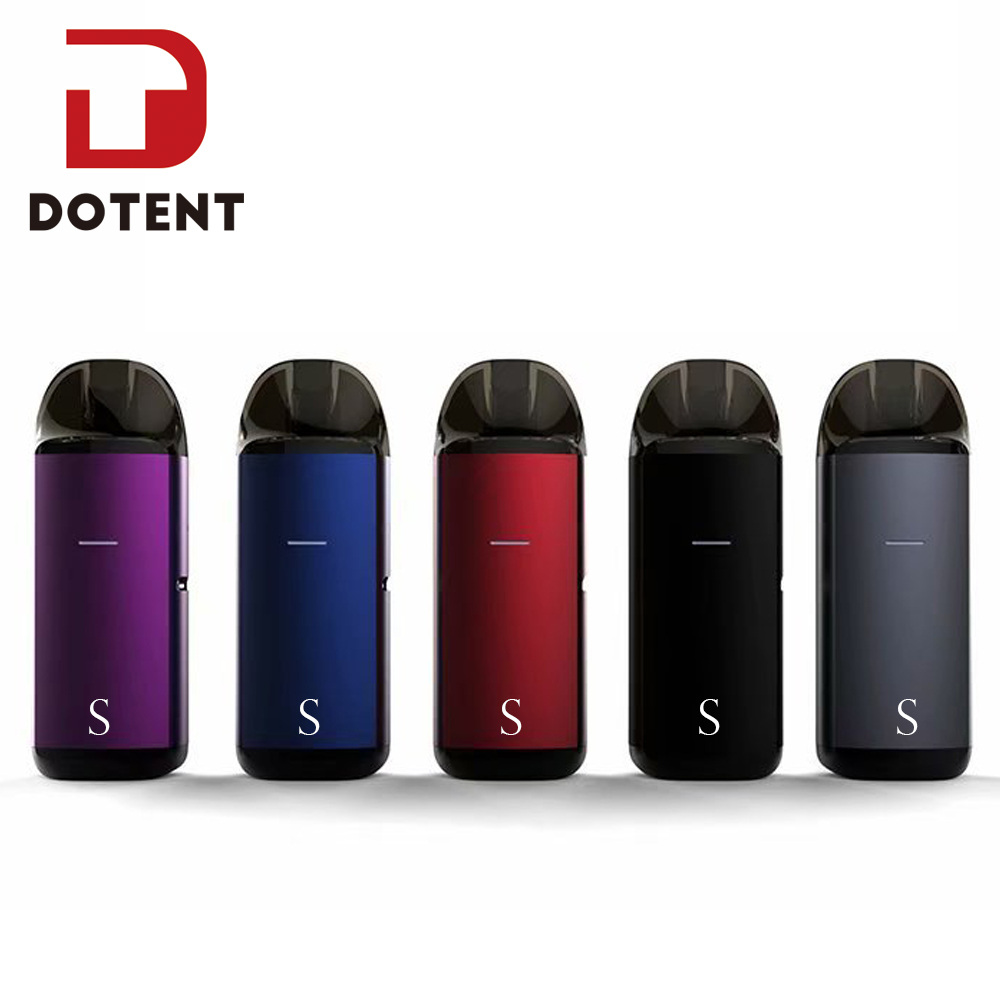 DOTENT MRPOD S Vape Kit 650mah Built In Battery 2ml Pod System Vaporizer Metal Body Box Shape Shisha Pen Electronic Cigarette