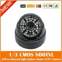 Home Security Dome Camera 1 3 CMOS 800TVL 3 6mm Lens With 48Pcs IR Led Nightvision