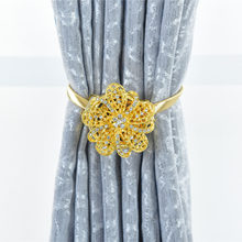 1 Pc Crystal Curtain Straps Rhinestones Magnet Tieback Magnetic Curtains Buckle Free Windows Wall Hook(China)