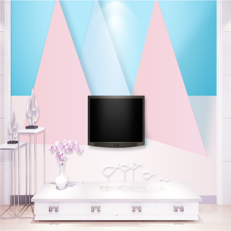 customized modern 3d photo wallpaper 3d mural wallpaper, simple fashion geometric polygon TV background wall paper home decor new can customized waterproof wall stickers art 3d large big wallpaper sky mural restaurant sofa tv background home decor