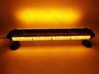 Голубой почвы Бэй 26 54LED 162 Вт аварийного опасности Предупреждение Двусторонняя Strobe Light Bar Желтый янтарь